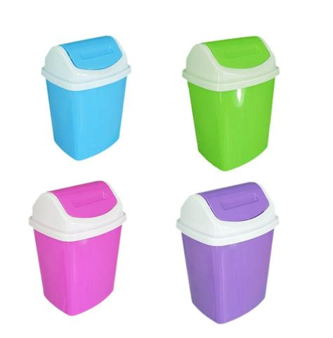 Kids brights small swing lid waste paper bin 5 litre for office bedroom bathroom ebay