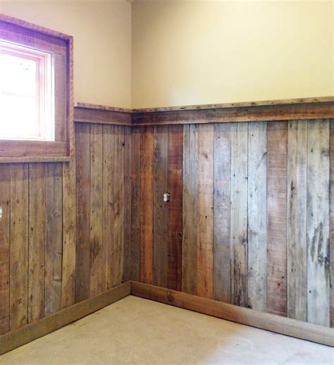 wood wainscoting ideas reclaimed wood such as palletwood makes a great