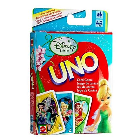 Disney Uno Mattel disney fairies uno card mattel disney fairies at entertainment earth item archive