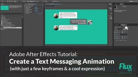 After Effects Tutorial How To Create A Text Messaging Animation Youtube Text Message After Effects Template Free