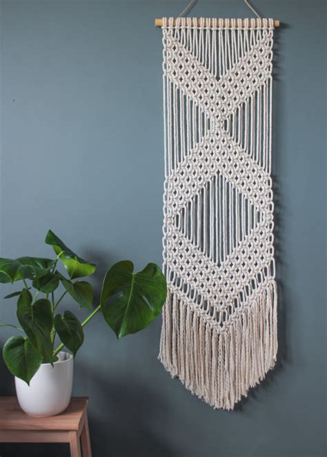 Macrame Wall Hanger - macrame wall hanging chevrons 100 cotton cord in