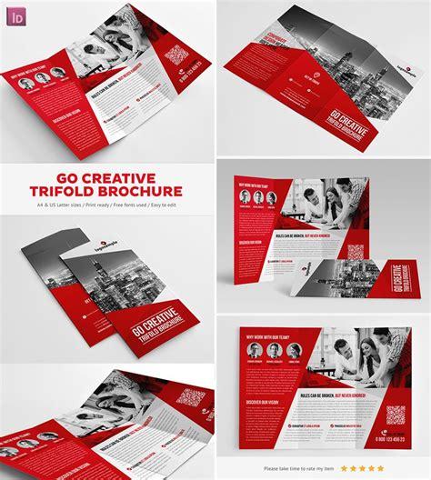 Go Creative Indesign Trifold Brochure Magazyny X Okładki Pinterest Indesign Brochure Creative Indesign Templates