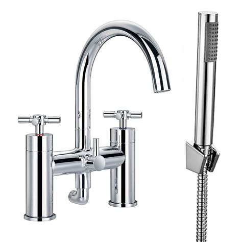 Enki Cross Bath Filler Tap Shower Head Wall Mount Basin Bathroom Shower Heads And Taps