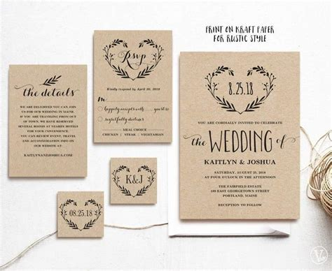 bridal invitations templates best 25 wedding invitation templates ideas on