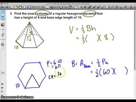 How To Make A Pentagonal Pyramid Out Of Paper - regular hexagonal pyramid exact volume