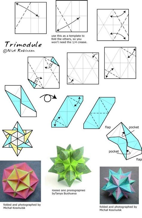 Origami Modular Diagrams - 196 best images about origami on geometric