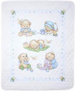design works baby bears quilt sted cross stitch kit