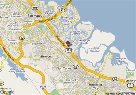 san francisco redwoods map map of sofitel san francisco bay redwood city