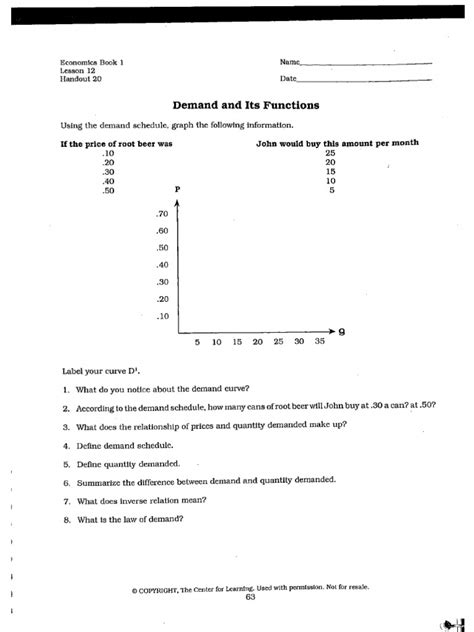 Combining Supply And Demand Worksheet Answers