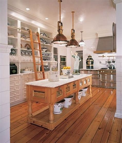 Old Farmhouse Kitchen Designs by Repurposed Reclaimed Nontraditional Kitchen Island
