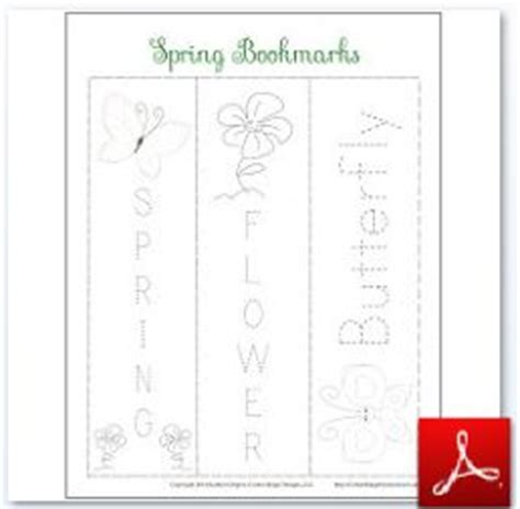 printable bookmarks spring spring themed educational activities for kids free