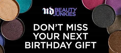 Urban Decay Gift Card Online - urban decay still want birthday gifts sign up for ud beauty junkies milled