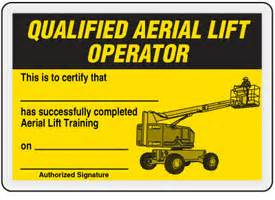 forklift certification card info to include in the