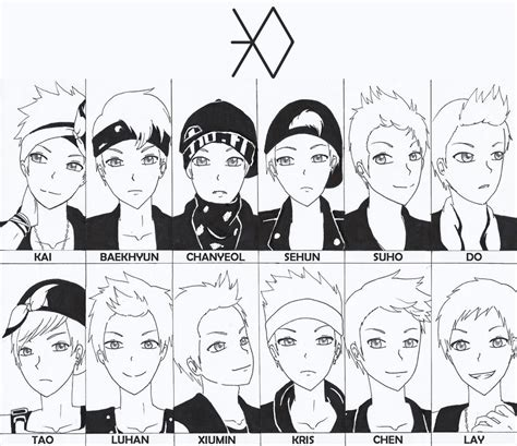 exo chibi coloring pages exo by mysimpleme14 on deviantart