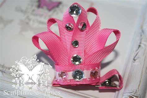 how to make ribbon sculpture hair bows sculpture clippies princess tiara crown ribbon sculpture