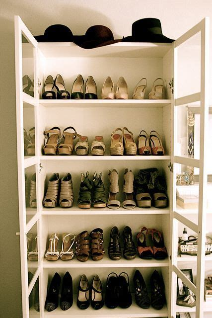 how to organise your shoes ikea billy shoe display and