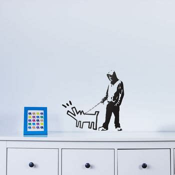 how to a to bark at intruders banksy barking at intruder wall by vinyl revolution notonthehighstreet