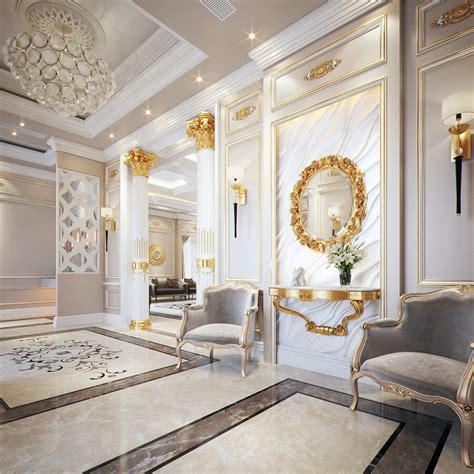 classic style villa  behance