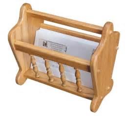 amish oak wood magazine rack or letter holder