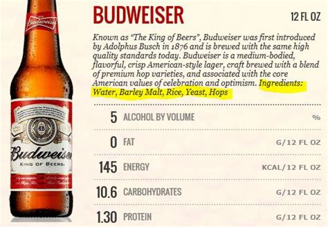 Calories In Light by Weight Loss Tips Bud Light Nutrition Info