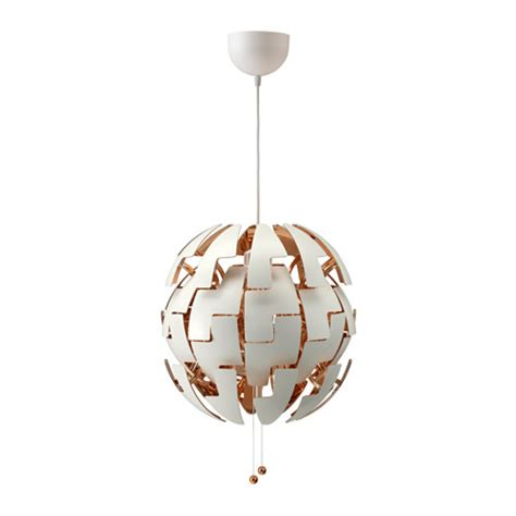 ikea ps 2014 pendant l white copper color ikea