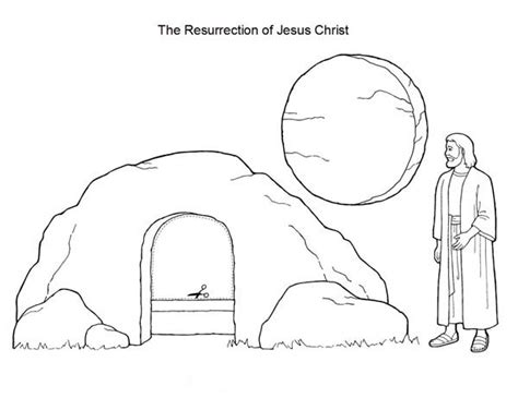 coloring page of jesus tomb lazarus tomb coloring page coloring pages