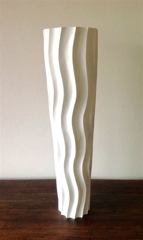 handmade whites modern art mango wood vase wedding vase decorative tall floor vase wood height 75cm white