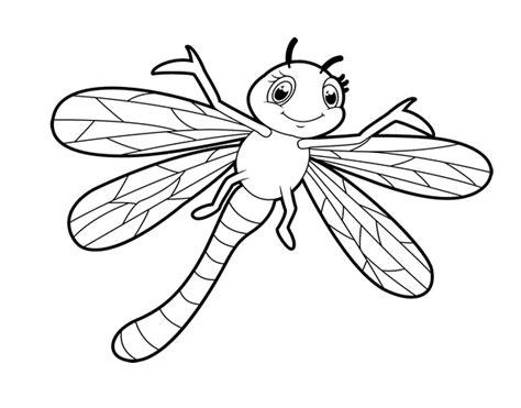 imagenes infantiles libelulas dibujo de lib 233 lula infantil para colorear dibujos net