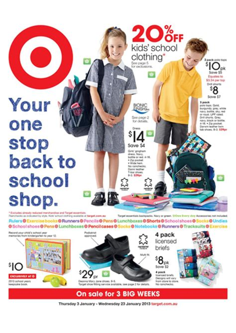 start school with success using target school catalogue and clothes
