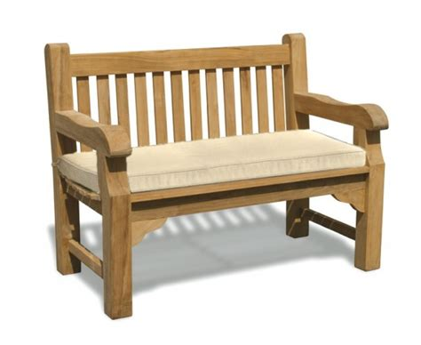 garden bench with cushion outdoor bench cushion 4ft lindsey teak