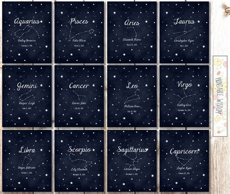 printable zodiac signs search results for birth sign meanings calendar 2015