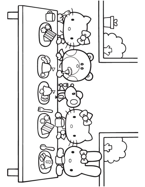 hello kitty birthday party coloring page h m coloring