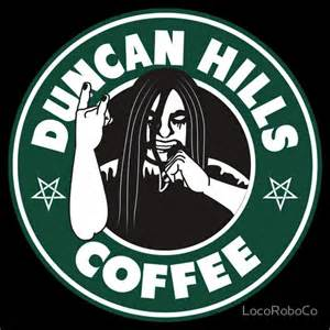 Duncan Hills Coffee T shirt by LocoRoboCo