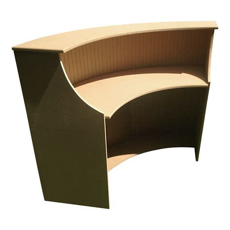 large curved reception desk bespoke mdf
