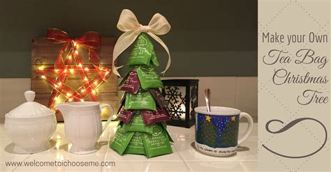 tea bag christmas tree i choose me