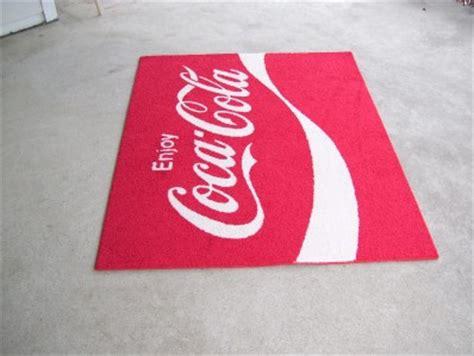 coca cola rugs custom coke enjoy coca cola 70s logo 4 x5 area rug 30 oz shaw carpet ebay