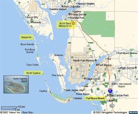 map of cape coral florida area map of the area near pine island pine island fl