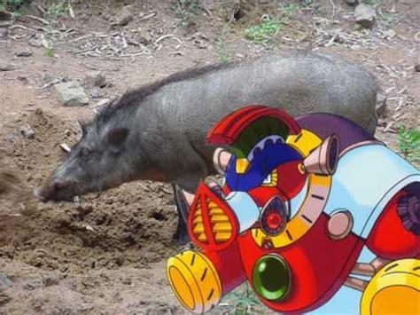 megaman  ride boarski animal form youtube
