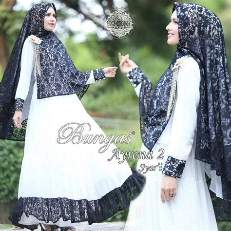 Baju Muslim Wanita Syari 118400 Ahliyah Syari Coklat Murah bungas jual busana muslim