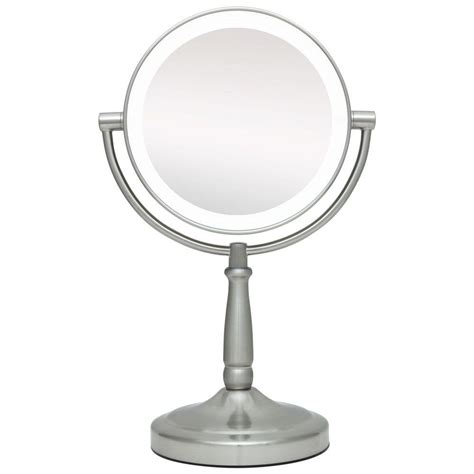 zadro lighted makeup mirror zadro 9 in x 14 in led lighted cordless round 1x 10x