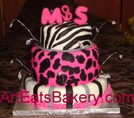 animal print fondant birthday cakes for women and young ladies arteatsbakery