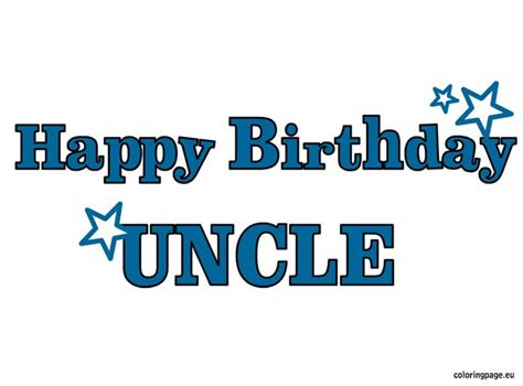 happy birthday uncle coloring pages happy birthday uncle coloring page birthdaybash family