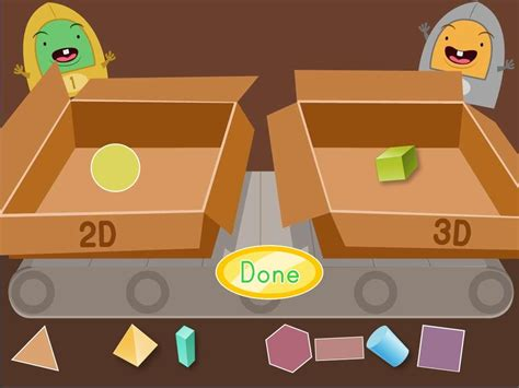 shape pattern games online 2d and 3d shapes factory game game education com