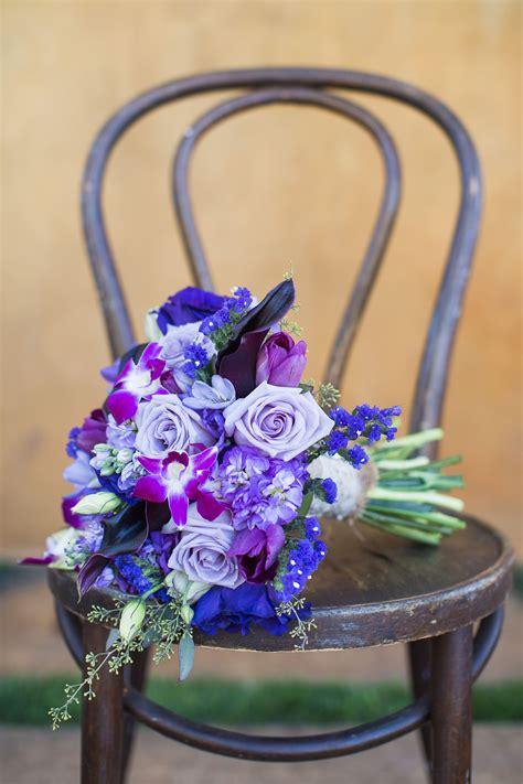mixed purple flower bouquet