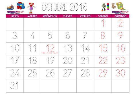 Calendario Mes Calendario Octubre 2016