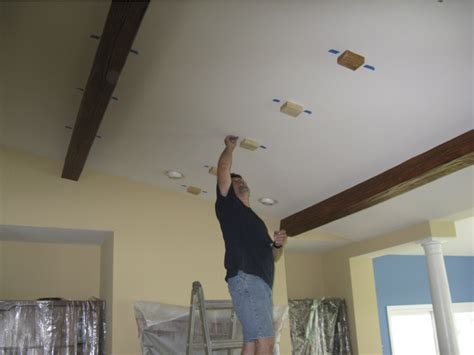 How To Cover Beams On Ceiling by How To Cover A Beam In The Ceiling Pranksenders