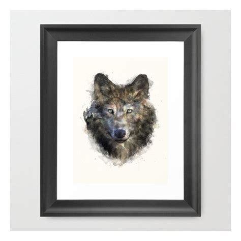 wolf secure framed print 45 cad liked on polyvore