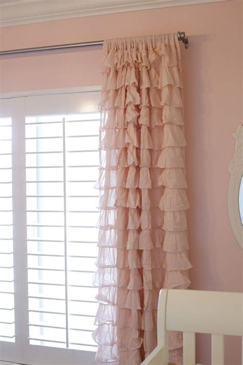 Ruffled Curtains Nursery Curtains Like This For A Nursery