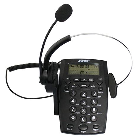 agptek business office telephone headset system corded
