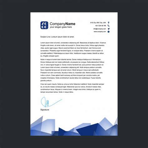 Lorem Ipsum Vorlage blue shapes letterhead design vector free